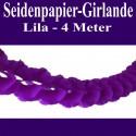 Seidenpapier-Girlande Lila, 4 Meter