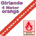 Seidenpapier-Girlande Orange, 4 Meter