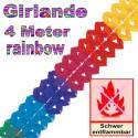 Regenbogen Girlande, 4 Meter