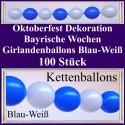 Oktoberfest Dekoration - Kettenballons 100 Stück - Bayrische Wochen - Ballondekoration