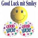 "Ballongrüße ""2x Good Luck mit Smiley"""