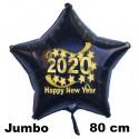 """Großer Silvester-Sternballon aus Folie, 2020 """"Happy New Year"""" mit Helium gefüllt"""