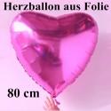 Herz Jumbo pink (ungefüllt)
