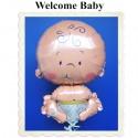 Welcome Baby, großer Luftballon mit Helium zur Geburt