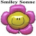 Luftballon Smiley Sonne, Folienballon ohne Ballongas