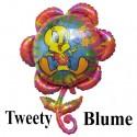 Luftballon Tweety Blume, Folienballon mit Ballongas