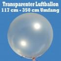 "Großer transparenter Luftballon 120 cm Ø / Umfang 350cm / 48"""