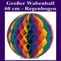 Großer Wabenball, 60 cm, Regenbogen