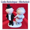 Großes Hochzeitspaar, Tischdeko Silberhochzeit