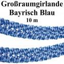 Großraumgirlande, 10 Meter, Bayrisch Blau, Oktoberfest-Dekoration