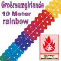 Regenbogen Girlande, 10 Meter