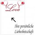 Grußkarte als Liebesbotschaft, Love