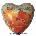 Gute Besserung, Bärchen Luftballon aus Folie, Simon Elvin
