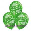 Gute Besserung, Motiv-Luftballons, Apfelgrün, 3 Stück