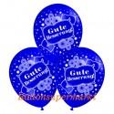 Gute Besserung, Motiv-Luftballons, Blau, 3 Stück
