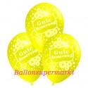 Gute Besserung, Motiv-Luftballons, Gelb, 3 Stück