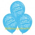 Gute Besserung, Motiv-Luftballons, Himmelblau, 3 Stück