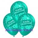 Gute Besserung, Motiv-Luftballons, Mintgrün, 3 Stück