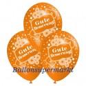 Gute Besserung, Motiv-Luftballons, Orange, 3 Stück