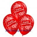 Gute Besserung, Motiv-Luftballons, Rot, 3 Stück