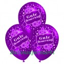 Gute Besserung, Motiv-Luftballons, Violett, 3 Stück