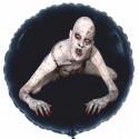 Halloween Monster Luftballon aus Folie, 46 cm Rundballon, schwarz