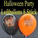 Happy Halloween Luftballons, 8 Stück