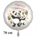 Happy Birthday großer Panda Bären Luftballon zum Kindergeburtstag mit Helium