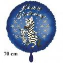 Happy Birthday Zebra großer Luftballon zum Kindergeburtstag mit Helium