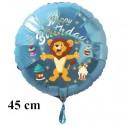 Happy Birthday Löwe Luftballon zum Kindergeburtstag mit Helium