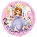 Sofia die Erste, Luftballon, Happy Birthday, Folienballon ohne Ballongas