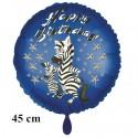 Happy Birthday Zebra Luftballon zum Kindergeburtstag mit Helium