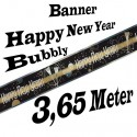 Silvester Dekoration, Letterbanner, Happy New Year, Bubbly