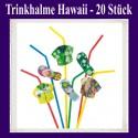 Trinkhalme Hawaii, 20 Stück