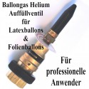 Ballongas Auffüllventil für Luftballons und Folienballons