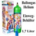Helium-Einweg-Behälter / 1,7 Liter