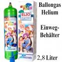 Helium-Einweg-Behälter / 2,8 Liter