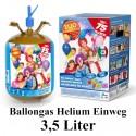 Helium-Einweg-Behälter / 3,5 Liter