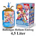 Helium-Einweg-Behälter / 4,5 Liter