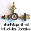 Ballongas Auffüllventil für Latexballons und Riesenballons mit Manometer
