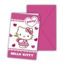 Hello Kitty, Einladungskarten zum Kindergeburtstag, 6 Stück