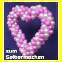 Dekoration zur Hochzeit, Herz aus Luftballons zum Selbermachen, 90 cm, Farbauswahl