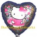 Luftballon Hello Kitty, Herz Folienballon ohne Ballongas