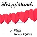 Herzgirlande / Rot / 16cm