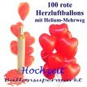 Hochzeit Herzballons steigen lassen / Maxi-Set 1 / 100er