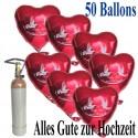 Alles Gute zur Hochzeit Midi-Set Folienballons