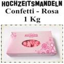 Hochzeitsmandeln Confetti, Rosa, 1 Kg