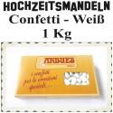 Hochzeitsmandeln Confetti, Weiß, 1 Kg