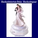 Hochzeitstorten-Dekoration Hochzeitspaar, Cremefarben