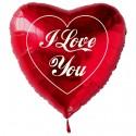 I Love You Herz Luftballon ohne Helium, Herzluftballon Liebe, gross